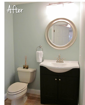 Rainwashed by Sherwin Williams - bathroom paint color