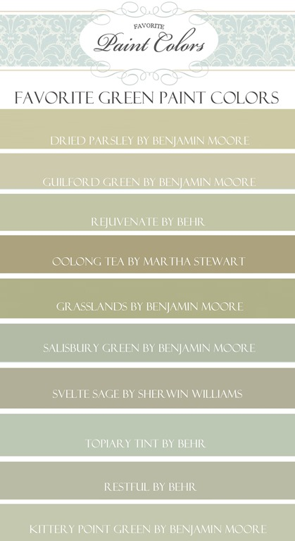 Green Tea Paint Color Benjamin Moore