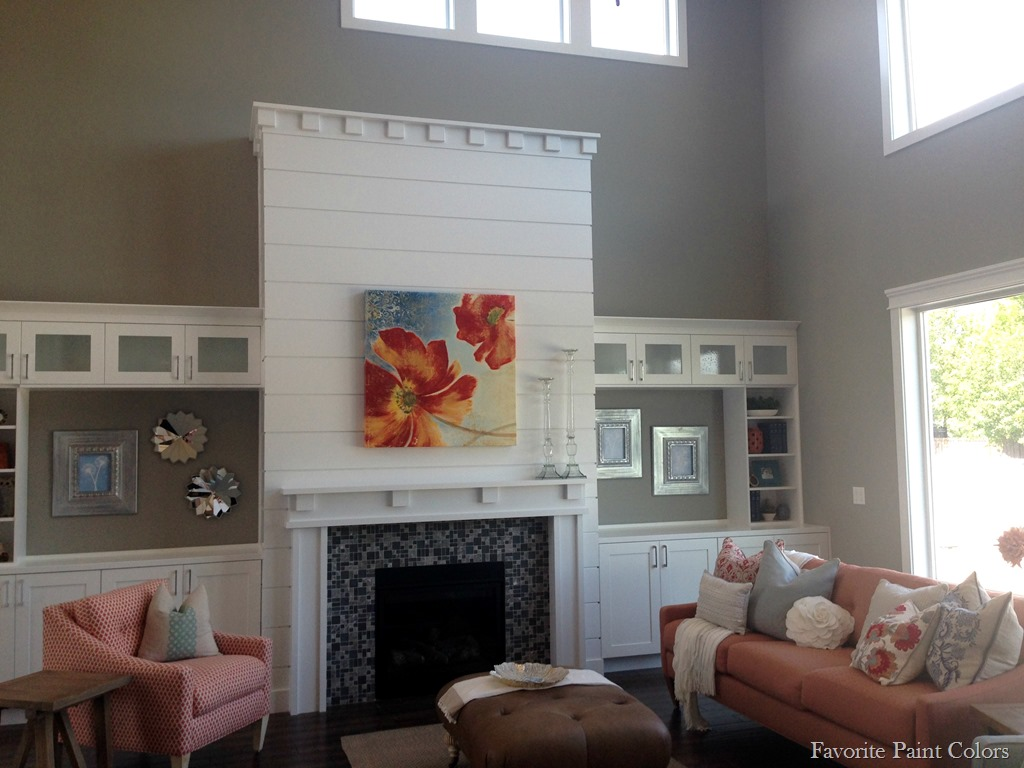 Dorian gray and extra white home tour favorite paint - Grey paint living room ...