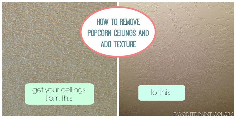 How to remove popcorn ceilings and add texture
