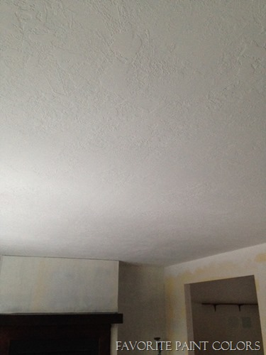 living room after ceiling
