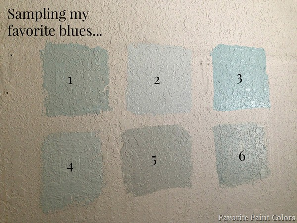Favorite blue paint colors
