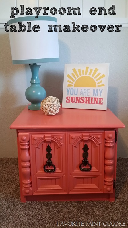 playroom end table makeover