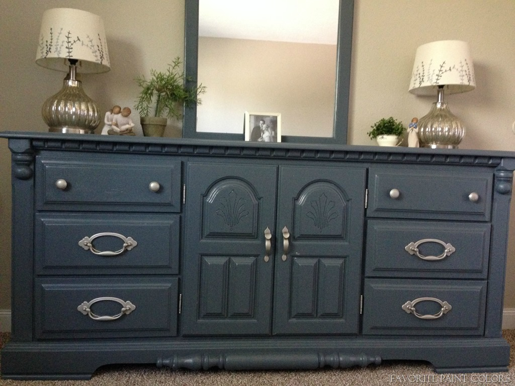 Painted dresser grays harbor the perfect blend of navy Best color to paint dresser