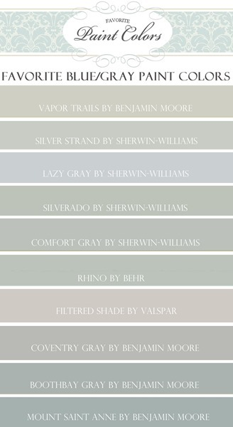 Favorite Blue/Gray Paint Colors