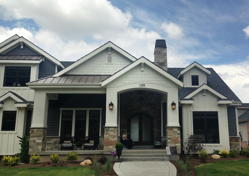 Home tour 2 and paint colors utah valley parade of homes favorite paint colors blog - Grey painted house exteriors model ...