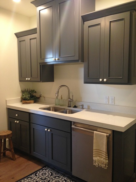 Kendall charcoal kitchen cabinets for Charcoal gray kitchen cabinets