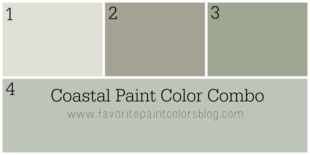 coastal paint color combination favorite paint colors blog. Black Bedroom Furniture Sets. Home Design Ideas
