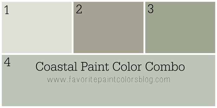 Coastal Paint Color Combo