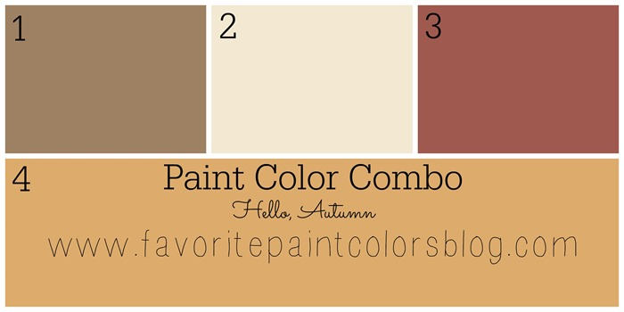Autumn paint color combination
