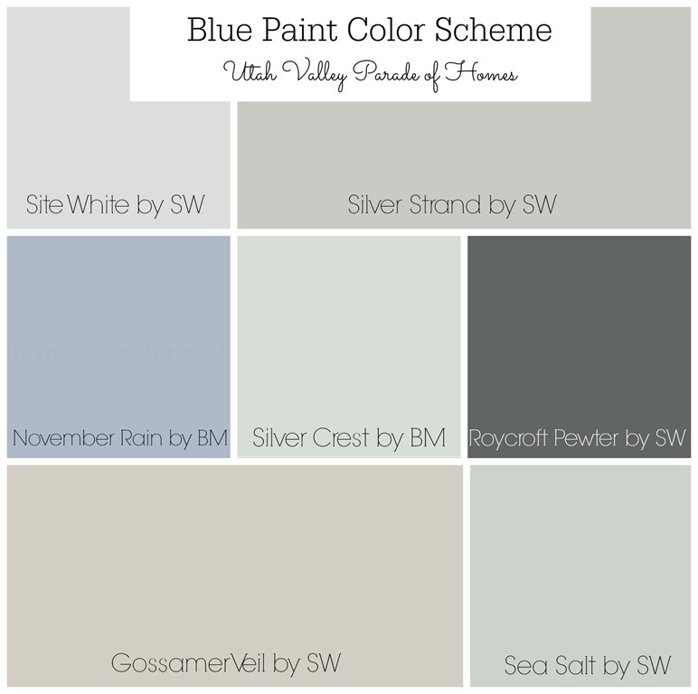 Whole house color schemes favorite paint colors blog for Blue gray paint palette