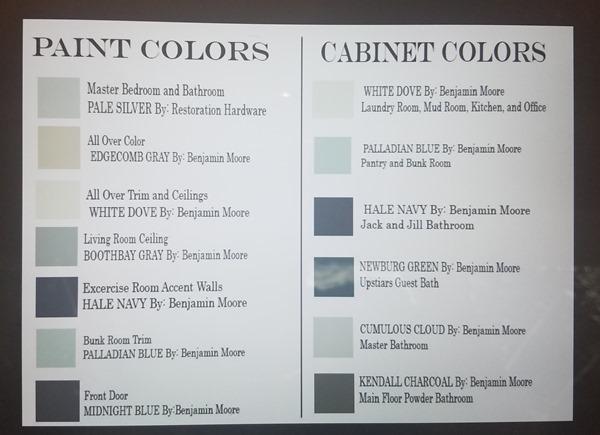 whole house paint color scheme