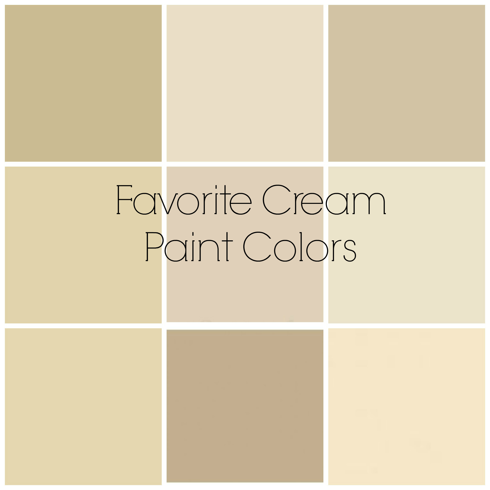 Favorite Cream Paint Colors