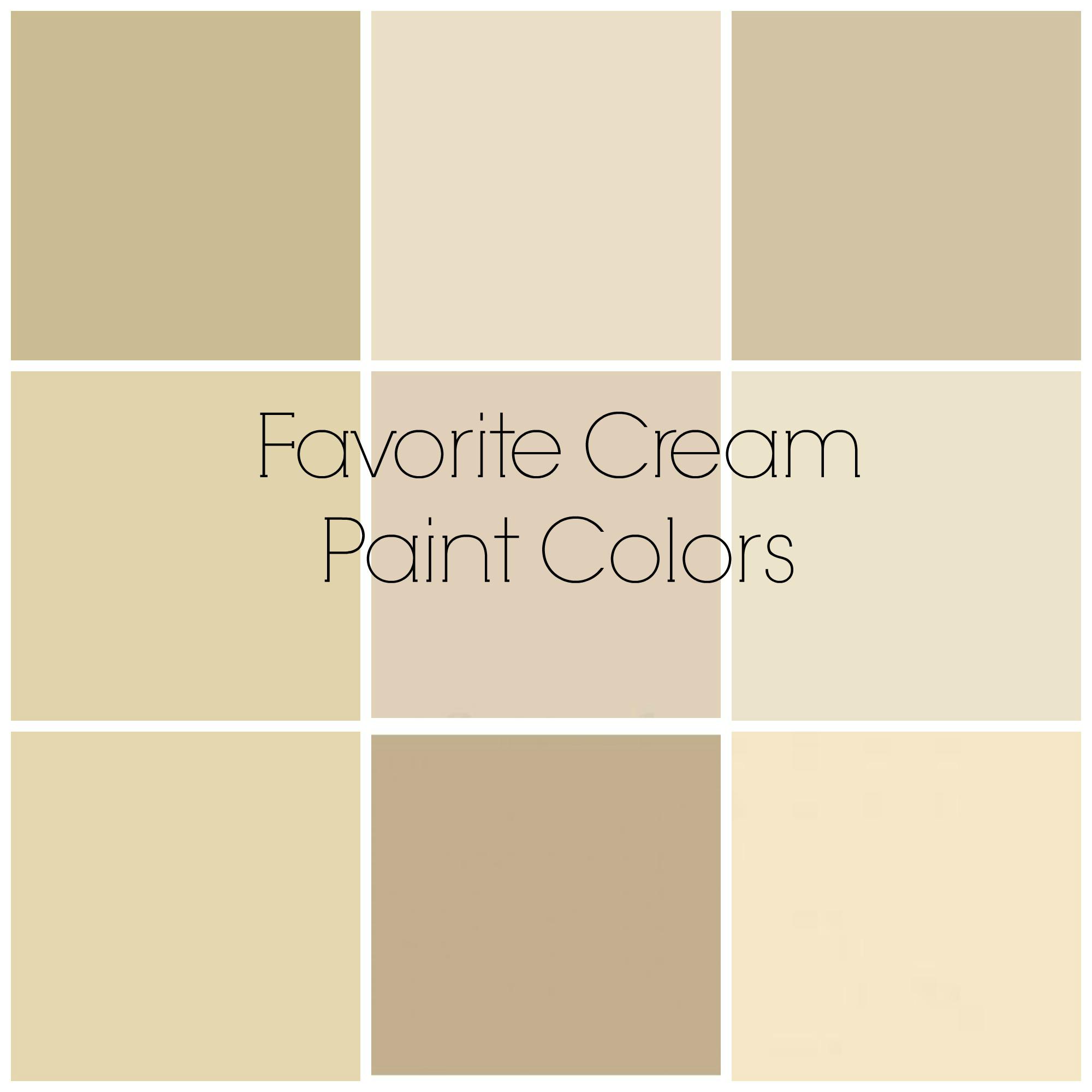 Reader Question Favorite Cream Paint Colors