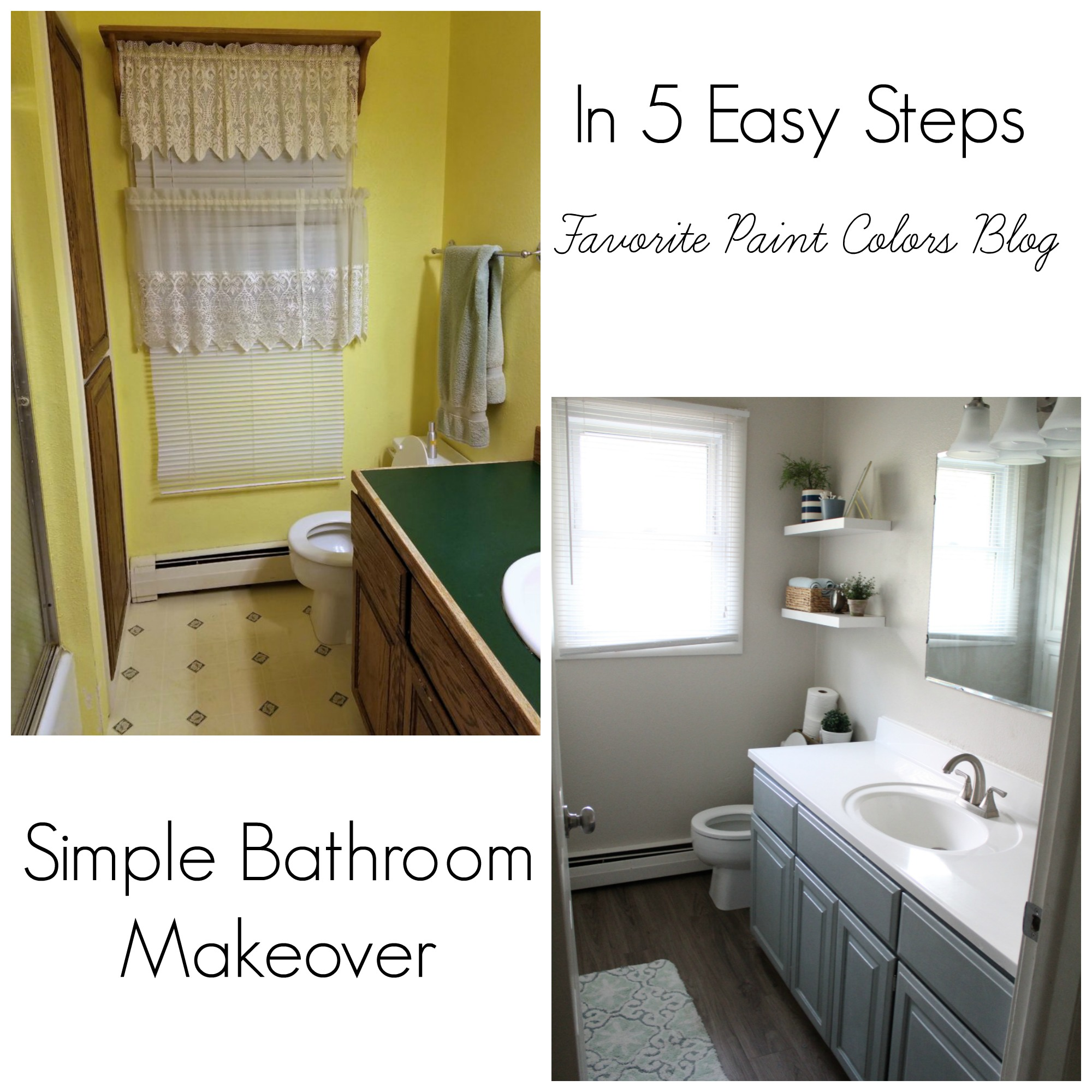 Simple Bathroom: Simple Bathroom Makeover In 5 Easy Steps